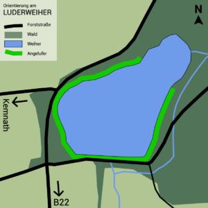 Luderweiher Orientierungs-Karte